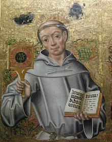 St. Bernardino, patron saint of advertisers