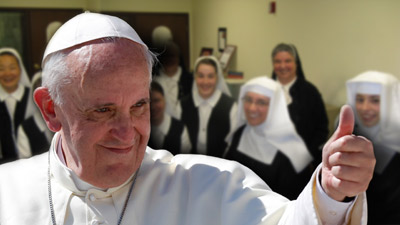Pope Fancis and Visitation Sisters